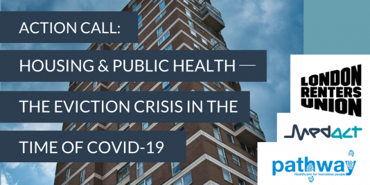 ACTION CALL: HOUSING & PUBLIC HEALTH ─ THE EVICTION CRISIS IN THE TIME OF COVID-19